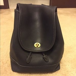 Coach Vintage Leather Turnlock Backpack